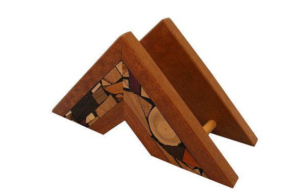 Napkin Holder, Wood Napkin Holder, Wooden Table Decoration, Mosaic Napkin Holder, Upright Napkin Sto