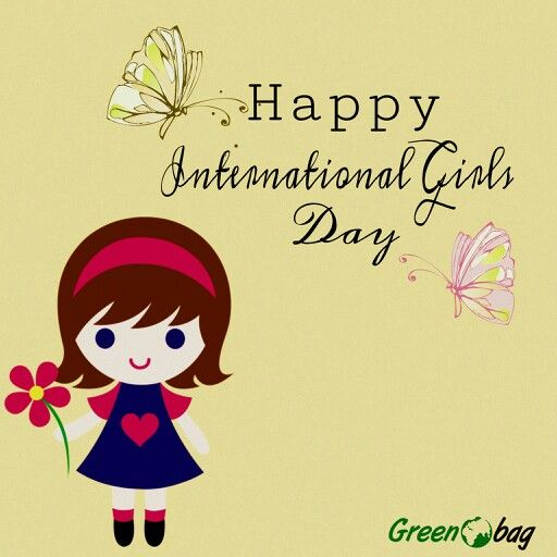 """""""Courage, sacrifice, determination, commitment, toughness, heart, talent, guts. That's what  girls are made of."""" #greenobag wishes all the girls out there a very #happy #international #girls #day"""