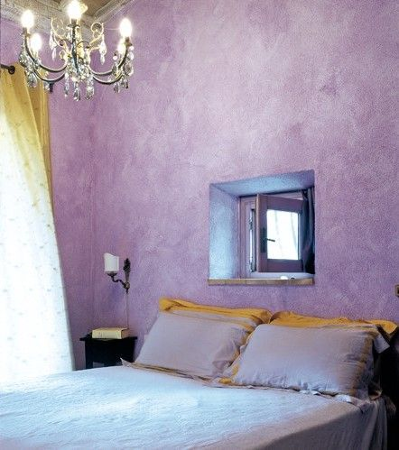 similar texture...now could i live with this tone? purple bedroom in Tuscany