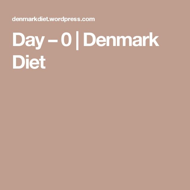 Day – 0 | Denmark Diet