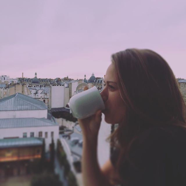 Joy Lenz on Instagram: #wbw burying my face in coffee over an early Paris morning