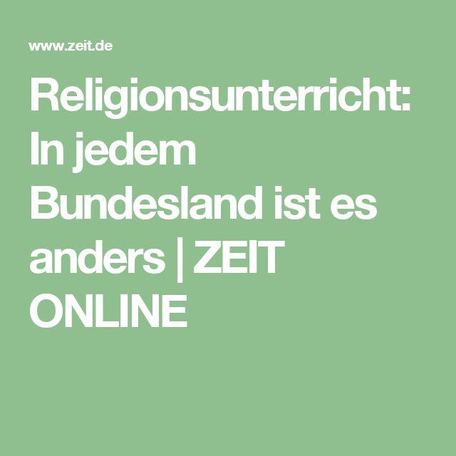 Religionsunterricht: In jedem Bundesland ist es anders   ZEIT ONLINE