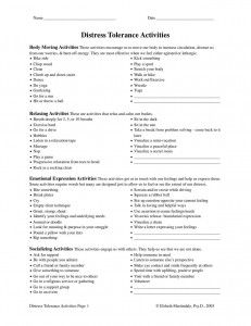 Worksheet Dialectical Behavior Therapy Worksheets 1000 images about therapy worksheets on pinterest mindfulness distress tolerance activities