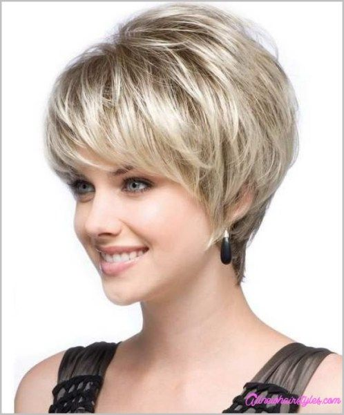 40 Short Hairstyles For Round Faces 2018 Hair Pinterest Short
