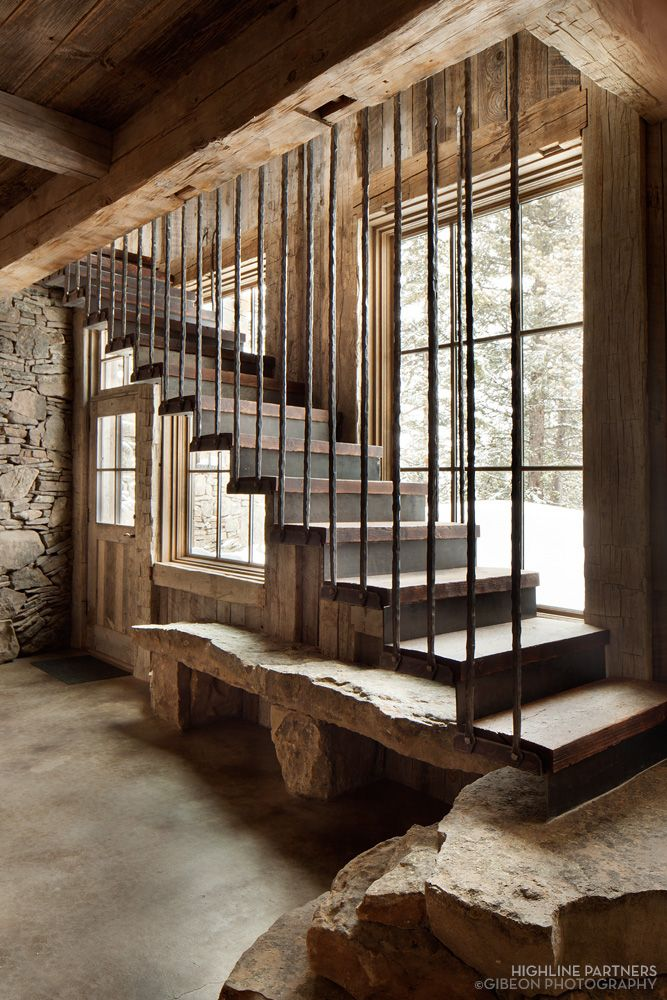 this gorgeous rustic mountain retreat has been designed by ka architecture in collaboration with haven interior design located in big sky montana - Garage Designs Interior Ideas