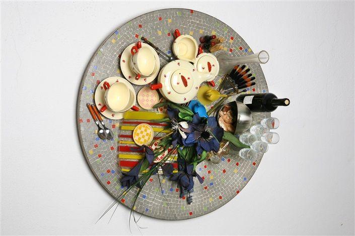 Faux Tableau-Piège (Serie: Mosaiques Années '50) by Daniel Spoerri