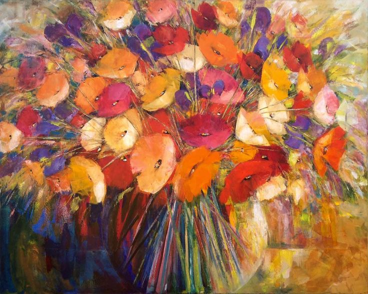 Large Poppies - Dalene Meiring.  Parnell Gallery Artist.  http://www.parnellgallery.co.nz/artists/dalene-meiring/