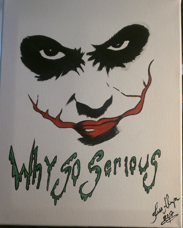 Joker painting on stretch canvas