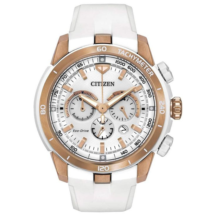 Citizen CA4153-00A Women's Victoria Azarenka Ecosphere White Dial Eco-Drive Chronograph Watch