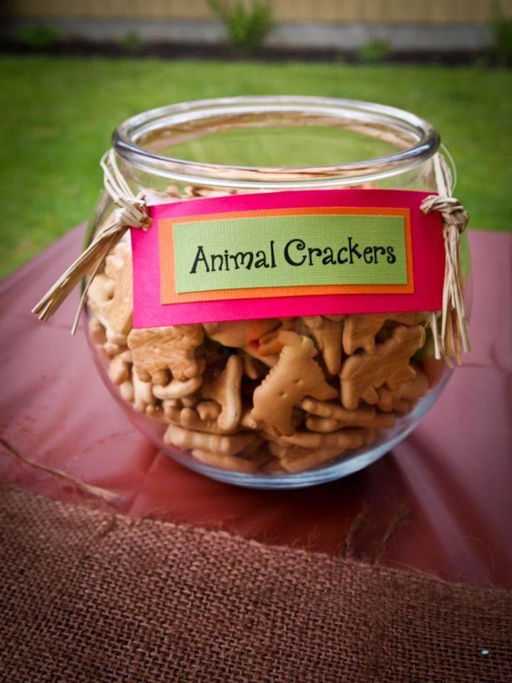 Easy Safari party food - animal crackers