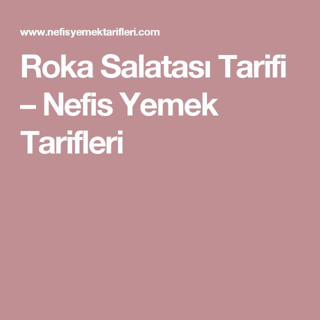 Roka Salatası Tarifi – Nefis Yemek Tarifleri