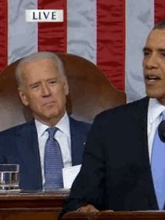 When he organized his life in front of us. | 9 Things Joe Biden Did At The State Of The Union That Were More Interesting Than Obama's Speech - BuzzFeed News