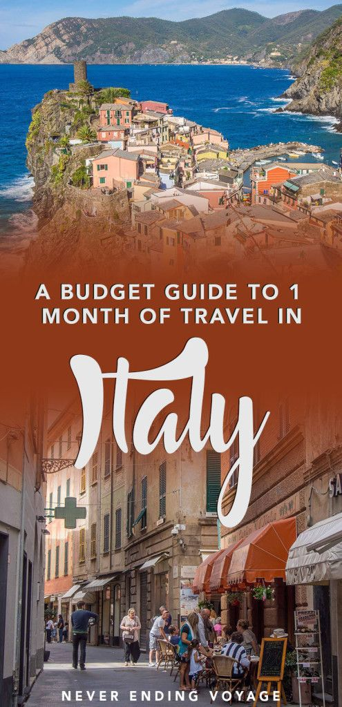How much exactly does it cost to visit Italy for one month? Here's a complete budget guide so you know what to expect! #italy #budget