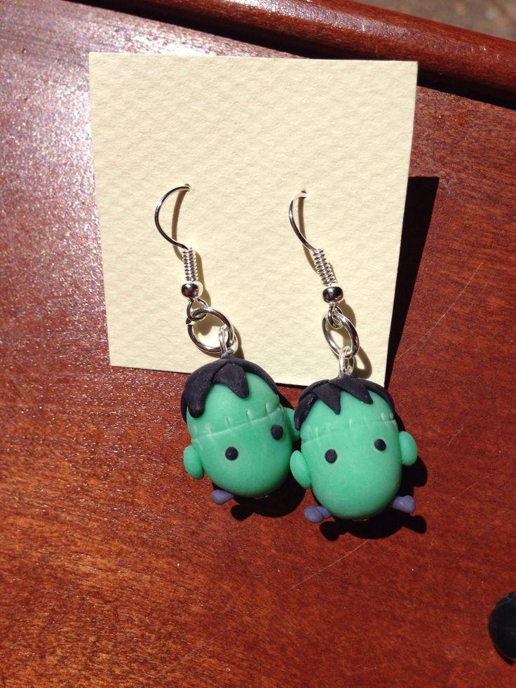 #Frankenstein'smonster earings! Handmade of #polymerclay :)