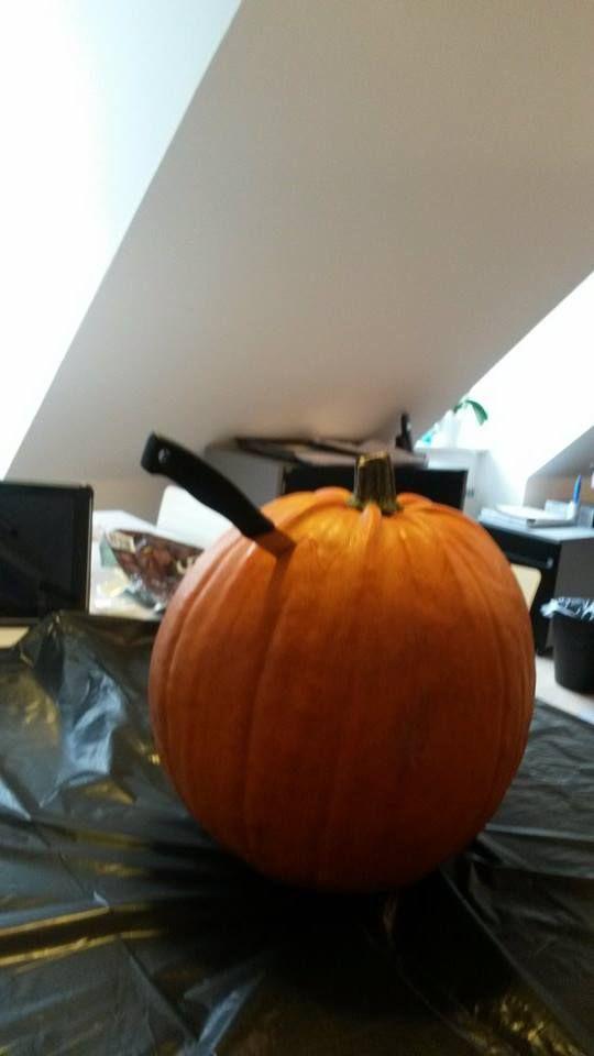 #Vuuh #pumpkin #carving #office #halloween #Aarhus