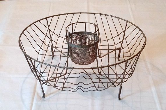 Round Vintage Wire Dish Drainer With By Fingerlakesfinds