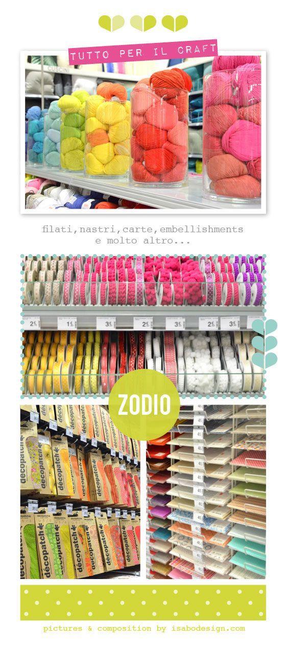 Da Zodio Italia, passamanerie, filati colorati, carte decorative...e tutto per il craft- Ph: Isabo design
