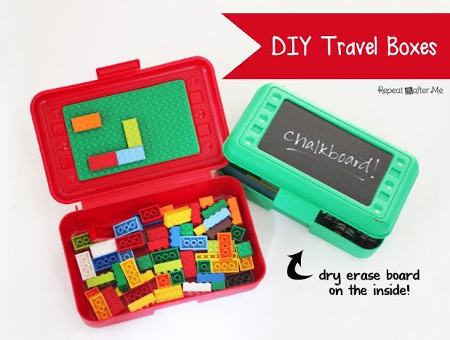 Repeat Crafter Me: DIY Lego and Art Travel Boxes I used to make things like this for my kids when they were little, but they weren't nearly as cute!