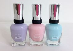 THISWASFOREVER | Fashion and Beauty Blog by Emily Chan – SALLY HANSEN COMPLETE SALON MANICURE (BARRACUDA, SWEET TALKER, I LILAC YOU) WITH SWATCHES