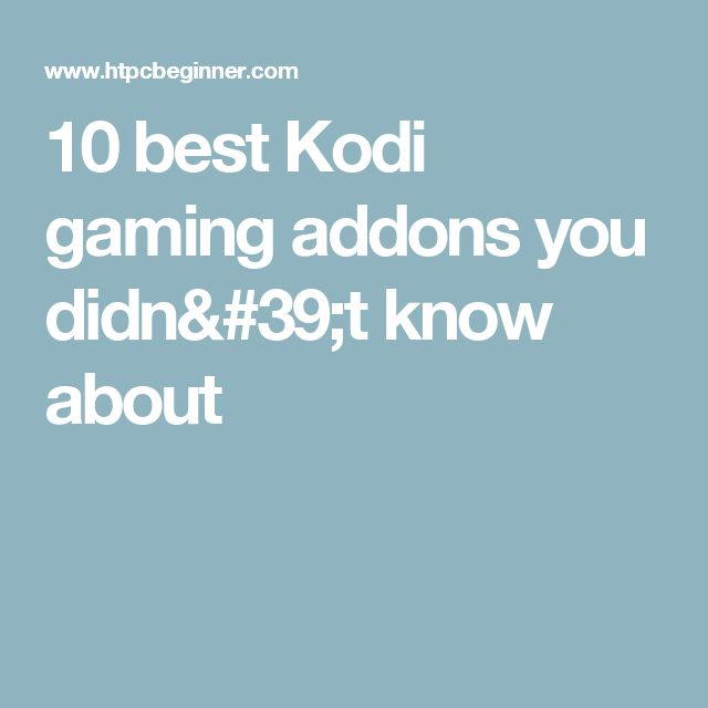 10 best Kodi gaming addons you did not know about