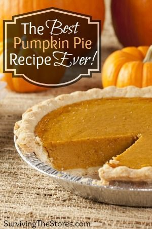 How to make the best pumpkin pie EVER!