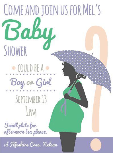 Frankie inspired baby shower invite.