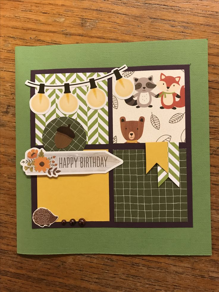 Scrapbooking card Happy birthday