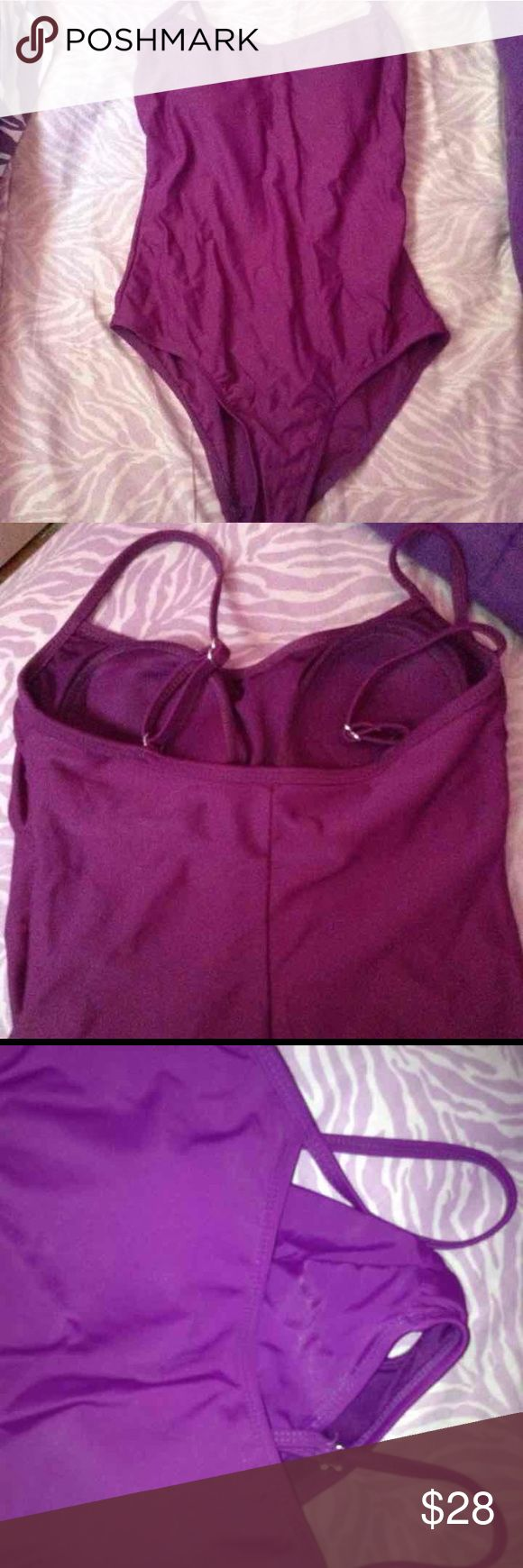 Purple one piece swimsuit Worn once, no rips Swim One Pieces