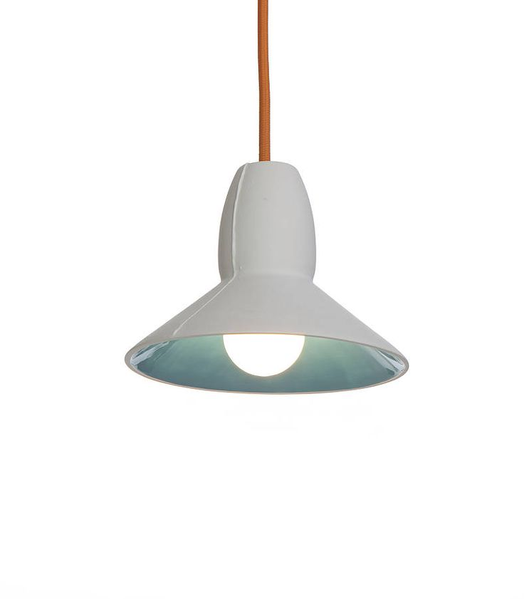 Half Spun Ceramic Pendant Light