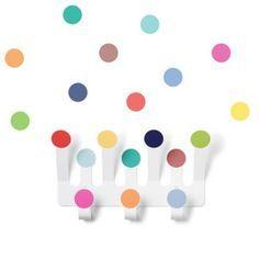 Colourful dot peg & coloured dot wall stickers, kids decor, kids furniture