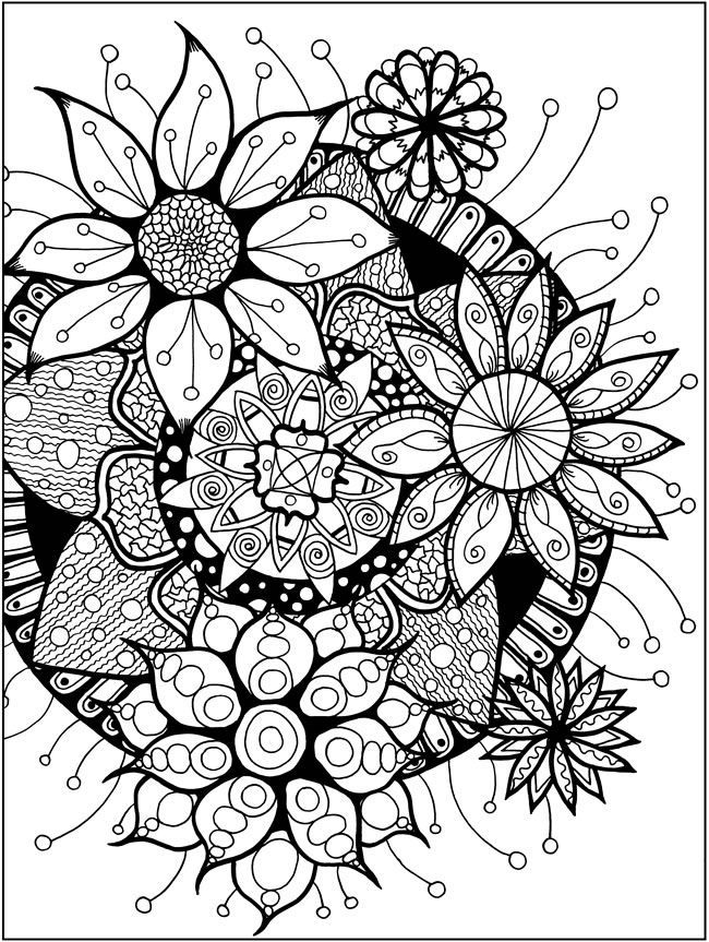 Zendala Coloring Book Dover Publications sample
