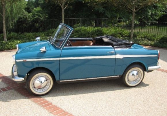 Classy 1969 Autobianchi Bianchina Convertible. I wish their were more beautiful cars like this being made today.