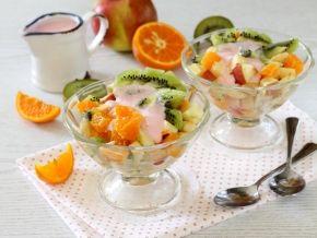 Фруктовый салат с йогуртом, рецепт с фото