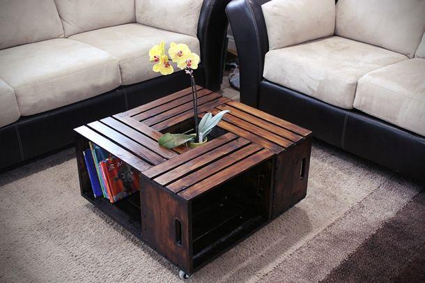DIY: Mesa de Centro com Caixotes