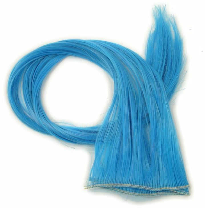 18″ High Heat Kanekalon Wefts by the Foot, Electric Blue
