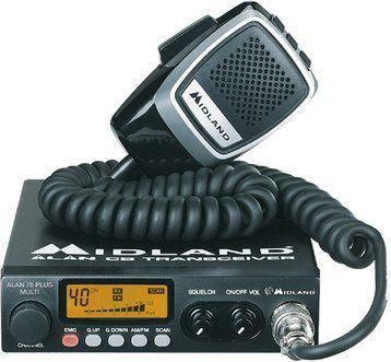 Midland 78 Plus 80 Channel AM FM Multi Band CB Radio & Handheld Microphone with Comtech CM-750PK Inverter 80 Channel Multiband CB Incorporates 40 UK/40EU channels