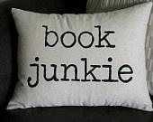 Worth Reading, Book Pillows, Junkie Decor, Pillows 12X16, Book Worth, Reading Nooks, Throw Pillows, Decor Pillows, Book Junkie