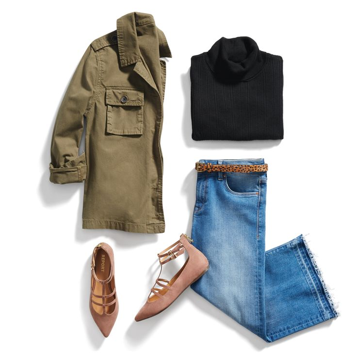 It's a balancing act! Pair cropped flares with a structured jacket for the ultimate in proportion play. #StylistTip