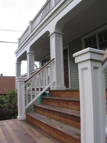front porch steps all wood?