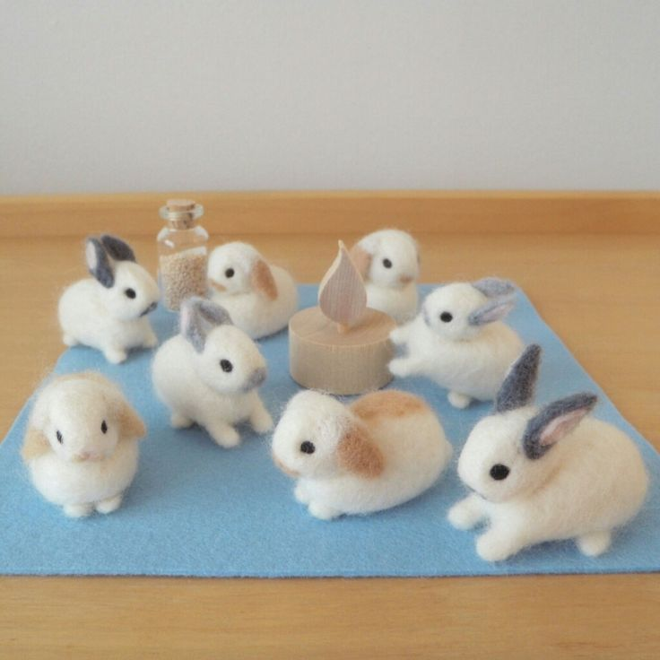 a bundle of bunnies happy easter the rabbits are coming me so cute followers more cute kawaii things to make your heart swoon for every occasion or style coming soon うさぎ] 羊毛フェルトのうさぎ