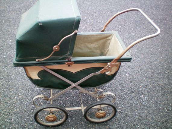 early 1900's Antique Baby Stroller Carriage. $200.00, via Etsy.