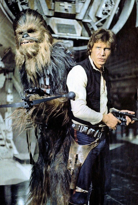 Han Solo and Chewbacca  OMG I can't even look at him now that i have seen The Force Awakens. :(
