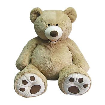 "Enhance Your Style with a BIG HUGGABLE BEAR. This plush bear is 53"" in size and is super soft and cuddly. His oversized tummy is great for leaning against while watching your favorite TV program or vi"