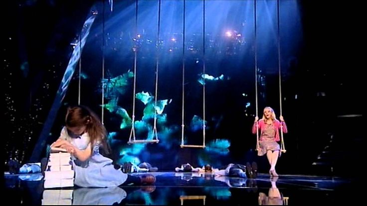 When I Grow Up - Matilda the Musical--The Matilda seems evil & not the greatest voice but I love the whole swings thing. It is my new goal in life to be in a show where I can swing on stage.