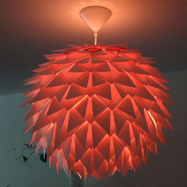 Using the Origami Helmet Base to create an upside down Artichoke Lamp | Mostly Folding