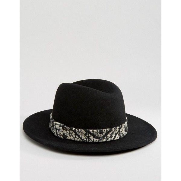 ASOS Fedora Hat With High Crown & Tie Dye Band ($31) ❤ liked on Polyvore featuring men's fashion, men's accessories, men's hats, black, mens wool fedora hats, mens wide brim fedora hats, mens wide brim hats, mens fedora hats and mens wool hats