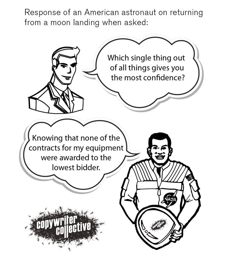 Response of an American astronaut on returning from a moon landing when asked....