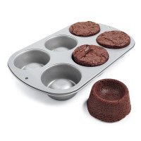 wilton brownie cup pan. I want! You could put a brownie in the microwave for a second or so, then put hot fudge, then ice cream on top. Like a chocolate lava cake!
