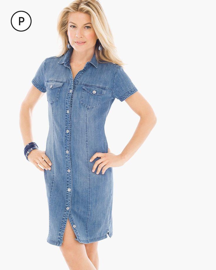 Petite Denim Short Dress