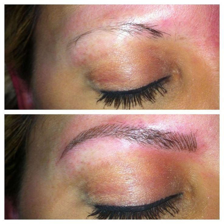 """feathered eyebrows tattoo 